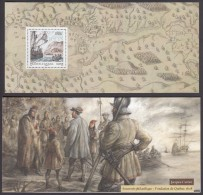 """[2/6]  FRANCE CANADA 2008 JOINT ISSUE MNH  Souvenir Sheet, Bloc In A Special  Folder """"JACQUES CARTIER"""" - Joint Issues"""
