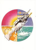 Pink Floyd, 1975 - Cover Sticker, Original Artwork From Wish You Where Here - Non Viaggiata - Musique Et Musiciens