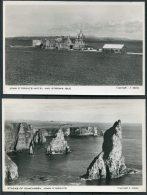 Scotland John O'Groats Hotel Stroma Isle / Stacks Of Duncansby RP Postcard X 2 - Scotland