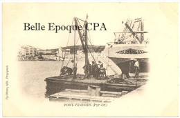 66 - PORT-VENDRES / Descente Du SCAPHANDRIER ++++ Py-Olivier, édit., Perpignan ++++ RARE - Port Vendres
