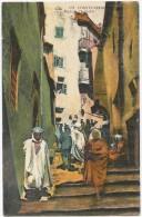 Algérie Constantine CP Rue De L´ Échelle Oblitération Bordj 1929 - Constantine