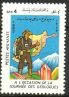 AFGHANISTAN:GEOLOGIST´S DAY,MINERALS,GEMS,MAP,MOUNTAINS,1985,1126,MNH - Afghanistan