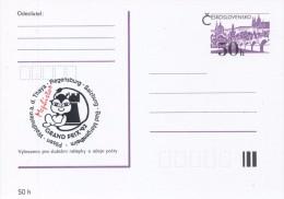 J0877 - Czechoslovakia / Postal Stationery (1992) International Chess Tournament Mephisto GRAND PRIX '92 (black/red) - Scacchi