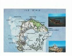 ILE D'AIX : Carte Touristique - France