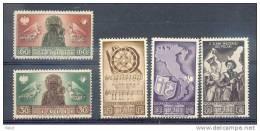 5 Timbres-vignettes Du 2éme Corps Polonais En Italie Neuves** - Guerre Mondiale (Seconde)