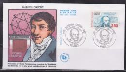 = Bicentenaire Naissance Augustin Cauchy 1er Jour Paris 10 11 89 N°2610 Portrait Mathématicien Formules Courbes - FDC