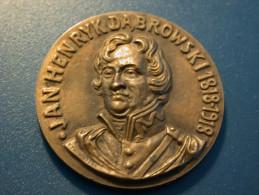 Medal Poland - Jan Henryk Dabrowski 1818 - 1918 - Entriegelungschips Und Medaillen