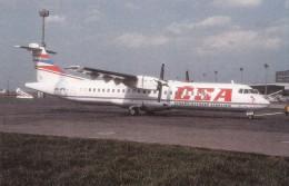 CSA, ATR-72, At Praha, Prague, Unused Postcard [16051] - 1946-....: Moderne
