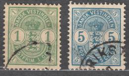 Denmark Danish Antilles (West India) 1900 Mi#21-22 Yvert#16,18 Used - Dinamarca (Antillas)