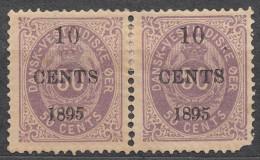 Denmark Danish Antilles (West India) 1895 Mi#15 Yvert#15 Mint Hinged Pair - Dinamarca (Antillas)