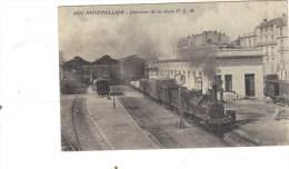 Montpellier-la Gare-petit  Défaut En Haut  à Droite - Montpellier