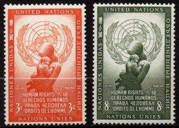 NATIONS UNIES - Droits De L'homme 1954 - Paire Neuve LUXE - Ungebraucht