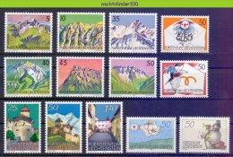 Ncg020 * SMALL ASSORTMENT * MOUNTAINS ARCHITECTURE POST VIOLIN LIECHTENSTEIN PF/MNH - Liechtenstein