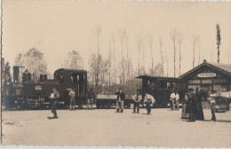 Format CPA PHOTO 45 CHATILLON COLIGNY La Gare Du Tramway Locomotive Wagons Animation - Chatillon Coligny