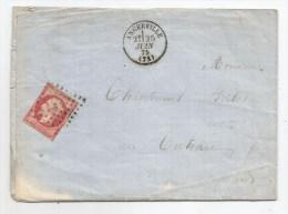 - Lettre - SEINE Et OISE - ANGERVILLE - PC.79 S/TPND N°17Ab + Càd T.16 - 1875 - 1853-1860 Napoleon III