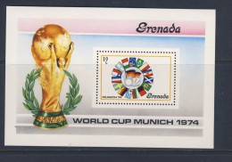 GRENADA  1974 FOOTBALL-DRAPEAUX  YVERT N°B32  NEUF MNH** - Coppa Del Mondo