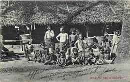 Ref- F730 - Ceylon - Ceylan - Group Of Native Children - Carte Bon Etat - - Cartes Postales