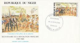Niger FDC Bicentenaire De La Révolution Française 1989 - Rivoluzione Francese