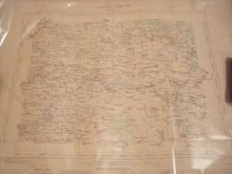 Carte Geographique De France-- ROMILLY-SUR-SEINE-1880 - Carte Geographique
