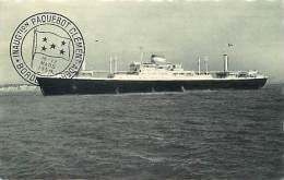 Ref- F720- Bateaux -  Paquebot Clement Ader - Cachet Inauguration 16- 17 Mars1954 - Bordeaux - Paquebots - - Paquebots