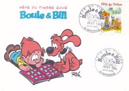 BOULE ET BILL FETE DU TIMBRE 2002 (chloé4) - Timbres (représentations)