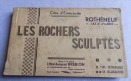 Carnet 19/20 Cartes Rothéneuf - Les Rochers Sculptés - Rotheneuf