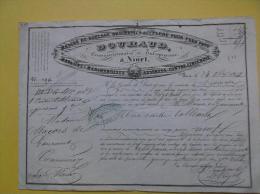 Feuille De Roulage Douhaud à Niort Une Caisse De Tableaux Pour Commercy 1848 - Transportmiddelen