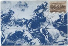 1964 CARABINIERI 150° ANNIVERSARIO L. 70 SU SPLENDIDA CARTOLINA CARICA DI PASTRENGO (6561) - Cartoline Maximum