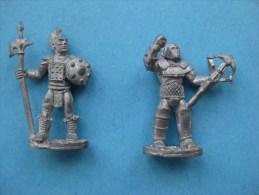 2 Figurines En Plomd 30 Mm : Indiens & - Group Games, Parlour Games
