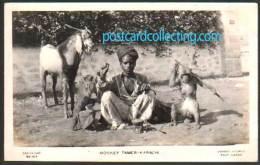 Karachi Pakistan - Monkey Tamer - Real Photo Postcard - Pakistan