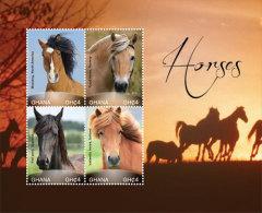 Ghana-2015-Horses - Stamps
