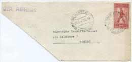 1942 AFRICA ORIENTALE ITALIANA C. 75 RARO ISOLATO SU BUSTA PARZIALE HARRAR DIRE DAUA 20.2.42 PER TORINO (A525) - Africa Orientale Italiana