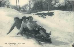 Ref G74- En Haute Tarentaise - Sports D Hiver - Luge -theme Luges -carte Bon Etat  - - Sports D'hiver