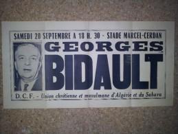Algérie Française, Georges Bidault - Affiches