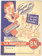 """Protège Cahier Ancien """"gateau BN """" La Nantaise  (choco Cas'croute - Buvards, Protège-cahiers Illustrés"""