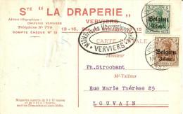 Censure Verviers Pour Louvain (Société La Draperie) écrite Le 6/10/16 - Guerre 14-18