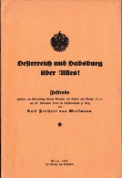 Festrede , Karl Freiherr Von Werkmann , Wien 1933 , Österreich Und Habsburg über Alles , 16 Seiten !!! - 5. Zeit Der Weltkriege