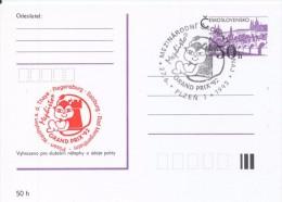 J0879 - Czechoslovakia / Postal Stationery (1992) Plzen 1: Internat. Chess Tournament Mephisto GRAND PRIX '92 (red) - Scacchi