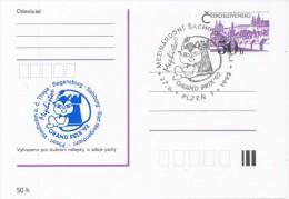 J0880 - Czechoslovakia / Postal Stationery (1992) Plzen 1: Internat. Chess Tournament Mephisto GRAND PRIX '92 (blue) - Scacchi