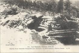 GUERRE 1914 - 1915 - Entrée D'une Tranchée Française Aux Environs De STEINBACH  -  ENCH   - - Guerre 1914-18