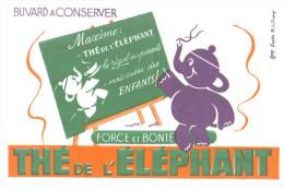 """Buvard Ancien """"thé """" Thé De L'Eléphant - Buvards, Protège-cahiers Illustrés"""