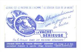 """Buvard Ancien """"fromage  """" La Vache Sérieuse - Buvards, Protège-cahiers Illustrés"""
