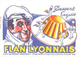 """Buvard Ancien """" Flan Lyonnais """" - Buvards, Protège-cahiers Illustrés"""