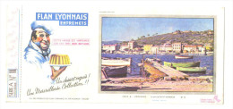 "Buvard Ancien "" Flan Lyonnais ""Provence :le Port De Saint Mandrier - Buvards, Protège-cahiers Illustrés"