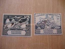 SOUTHERN RHODESIA Yvert 69/70 * Hinged Cat 2010: 3 Eur UPU 1949 British Colonies GB UK - Southern Rhodesia (...-1964)