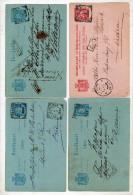 4 Cards NAPOSTTIJD, Cheribon, Hr Maier (arts), Stortenbeker! Etc (ni296) - Nederlands-Indië