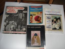 Lot De 4 Livres Sur Le Theme De La Carte Postale , Voir Les Scans - Livres