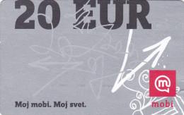 SLOVENIA Mobitel Moj Mobi 20 EUR 31/12/2012 Paper Mobil Prepaid Phonecard - Slovénie