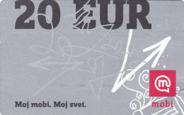 SLOVENIA Mobitel  Moj Mobi 20 EUR 31/12/2014 Paper Mobil Prepaid Phonecard - Slovénie