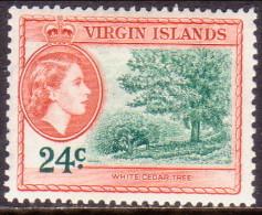 British Virgin Islands 1956 SG #157 24c MLH OG - British Virgin Islands
